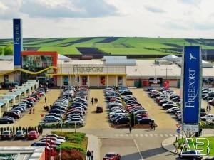 Luftbild von Freeport Outlet