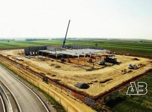 Luftbild Baustelle Auto Kamper